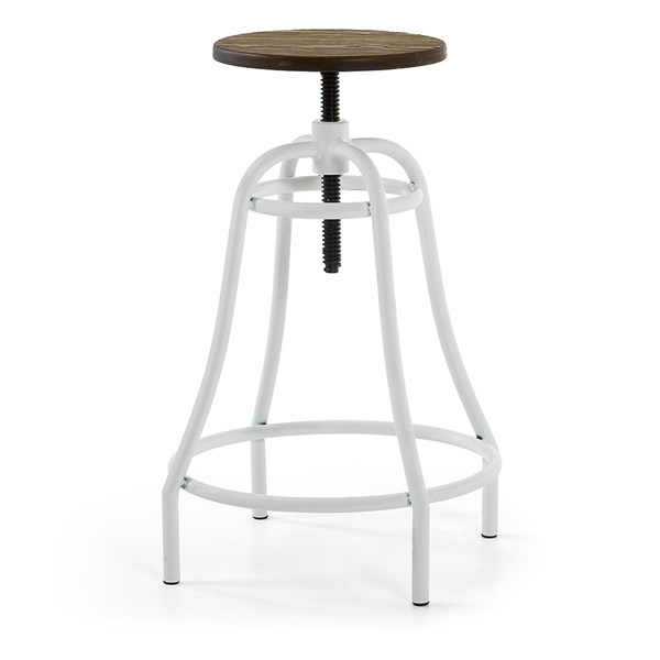 Malibu Metal Swivel Bar Stool in White