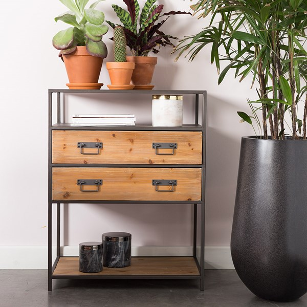Samuel Industrial Console Table