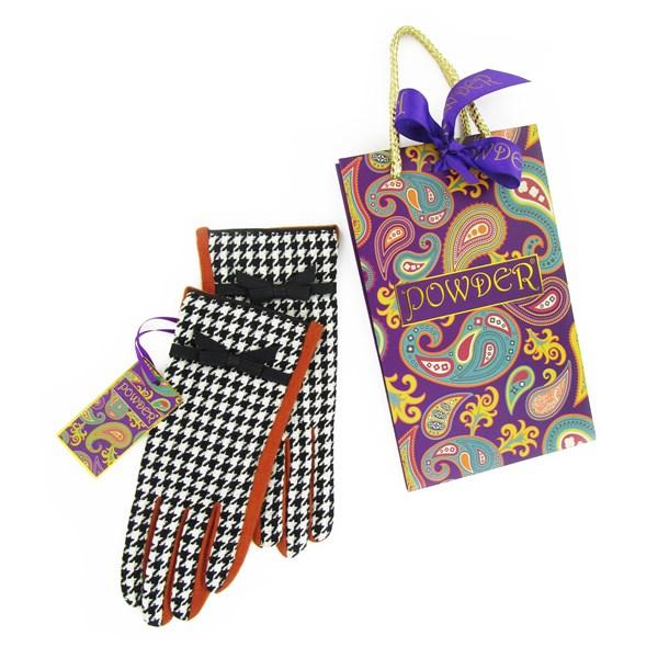 Designer Pure Wool Gloves in Tangerine
