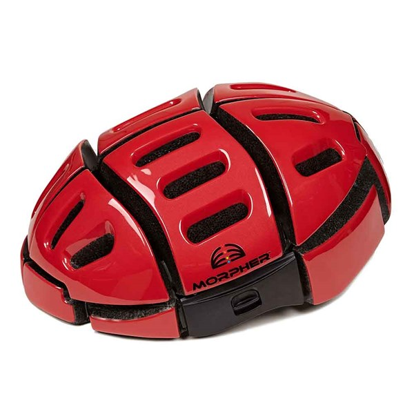Morpher Folding Cycle Helmet in Red