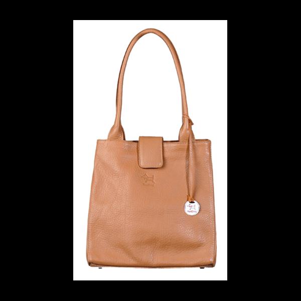 JACKIE Leather Handbag in Camel By RedDog Design Ltd