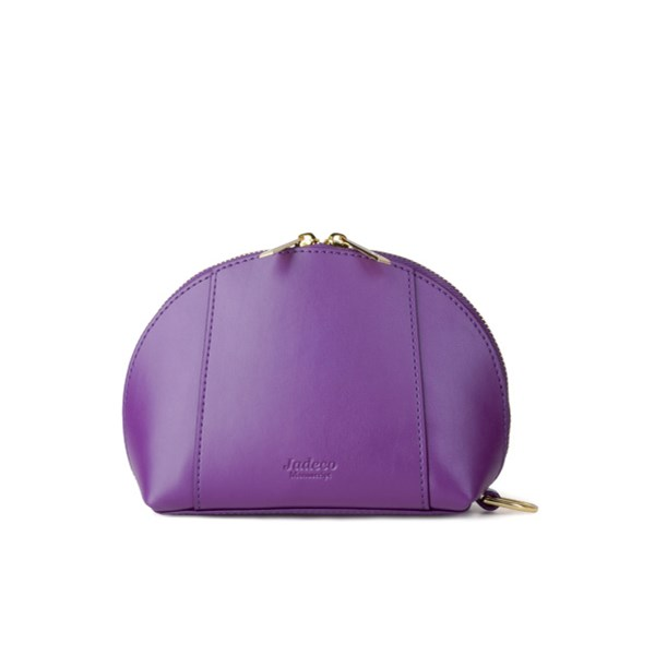 Cosmetic Bag with Built in Phone Charger in Purple