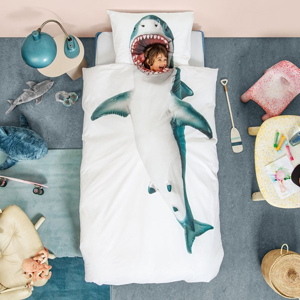 Snurk Single Shark Duvet Bedding Set