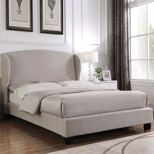 Blenheim Upholstered Bed with Winged Headboard by Julian Bowen