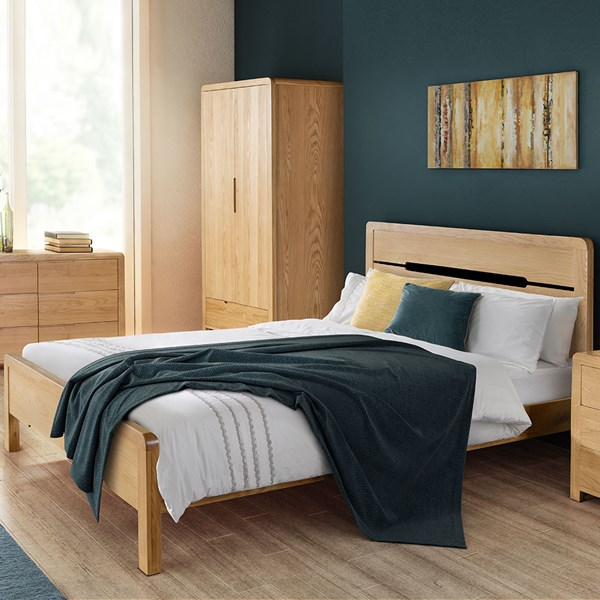 Curve Wooden Bed Frame by Julian Bowen