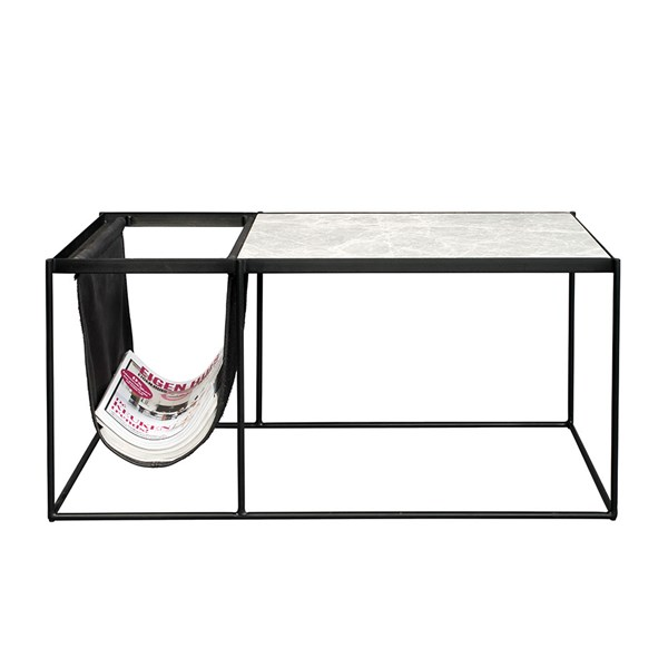 Zuiver Kansas Marble Coffee Table with Magazine Holder