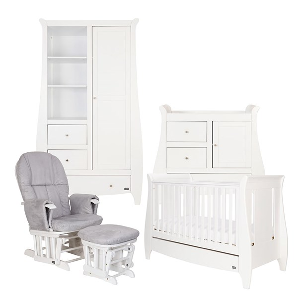 Tutti Bambini Katie Cot Bed 5 Piece Nursery Set in White