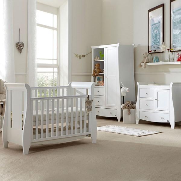 Tutti Bambini Katie Cot Bed 3 Piece Nursery Set in White