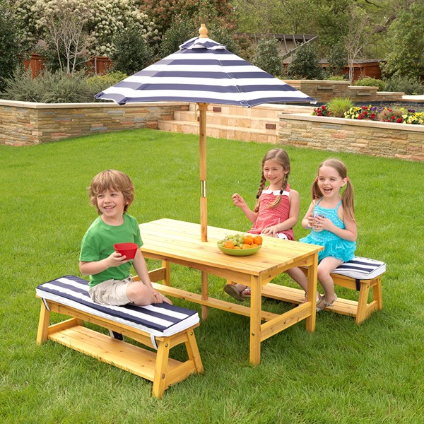 Kid Sized Picnic Table and Benches Set