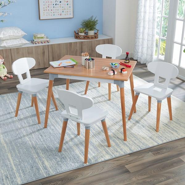 Kidkraft Mid-Century Kid Toddler Table & 4 Chairs
