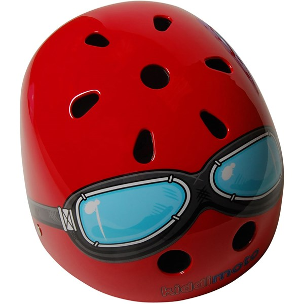 Red Goggle Helmet by Kiddimoto