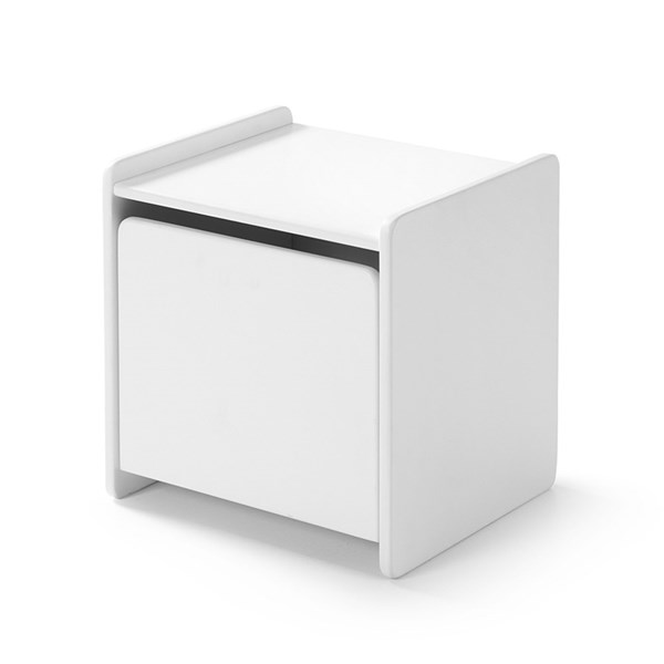 Kiddy Bedside Table in White