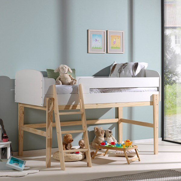 Kiddy Mid Sleeper Bed in White