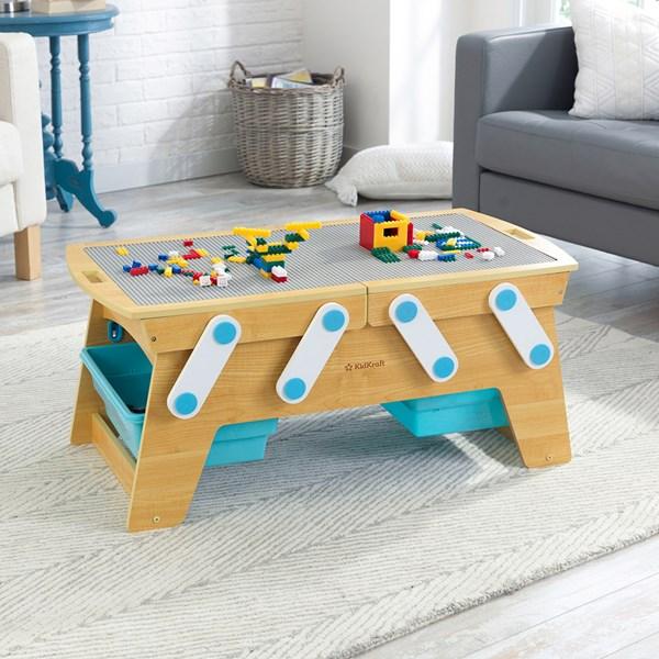 Kidkraft Building Bricks Play N Store Activity Table