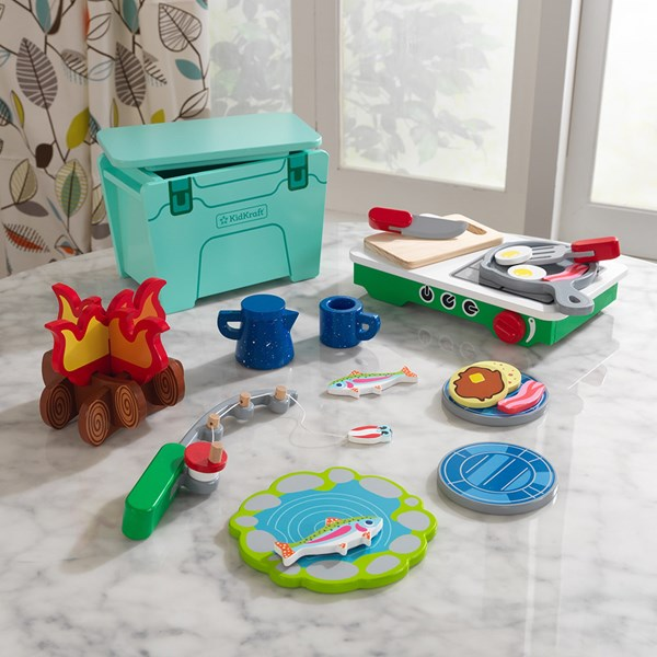 Kidkraft Lets Pretend Camping Cookout Play Set