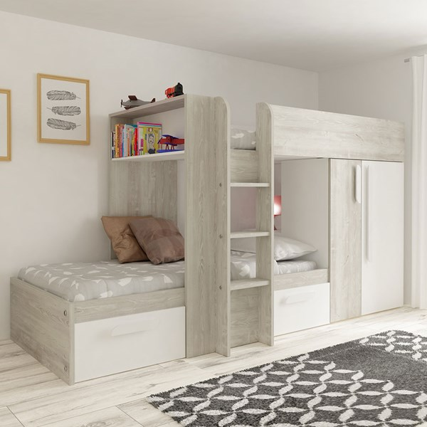 Trasman Barca Bunk Bed With Wardrobe