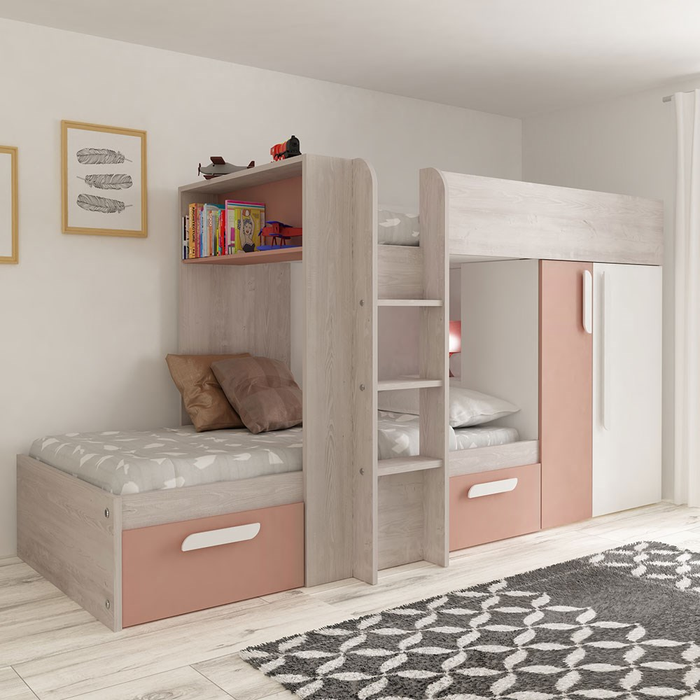 Trasman Barca Bunk Bed With Wardrobe Kids Avenue Cuckooland