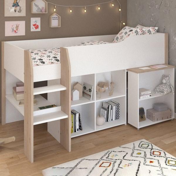 Parisot Finland Mid Sleeper with Desk & Storage