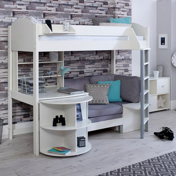 Kids Highsleeper Bed with Desk and Sofa Bed