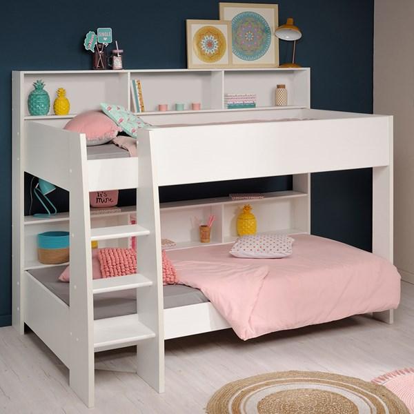 Parisot Tam Tam Kids Bunk Bed 4 in White & Brooklyn Oak