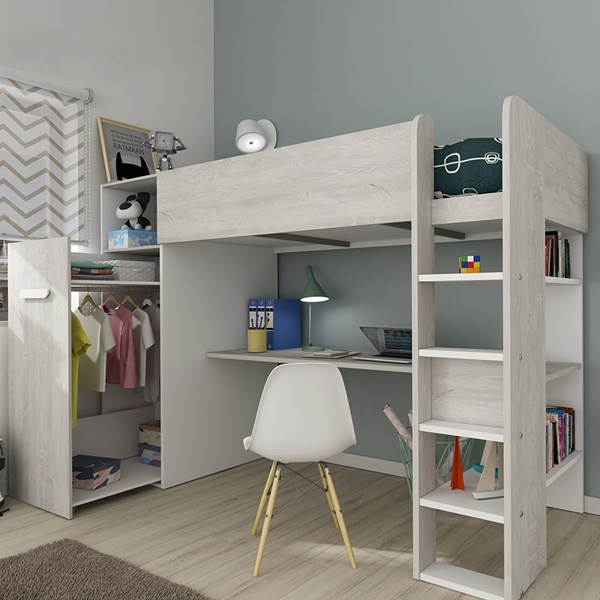 Trasman Tarragona High Sleeper Bed with Wardrobe