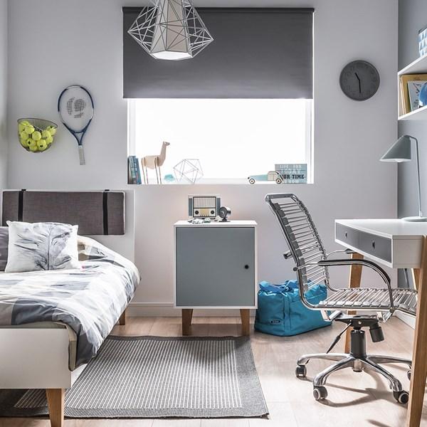 Vox Bedside Cabinet in White & Blue