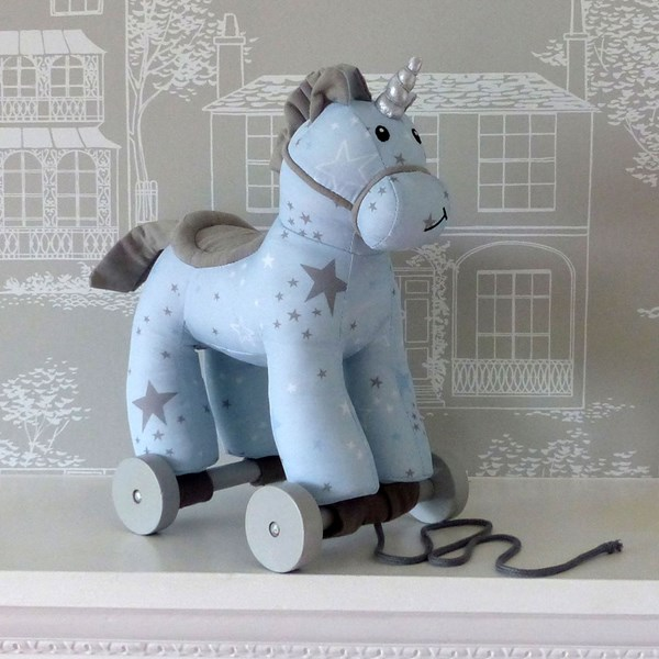 Moonbeam Unicorn Pull Along Kids Toy