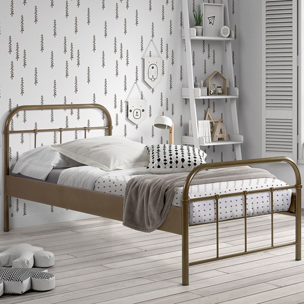 Boston Metal Kids Bed in Bronze