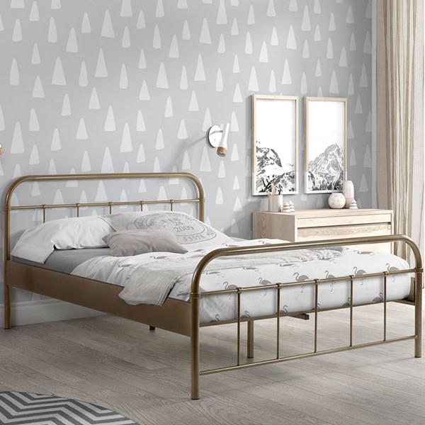 Boston Metal Double Bed in Bronze
