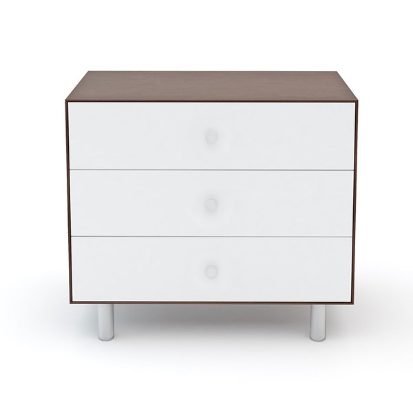 Oeuf Classic 3 Drawer Dresser in White and Walnut