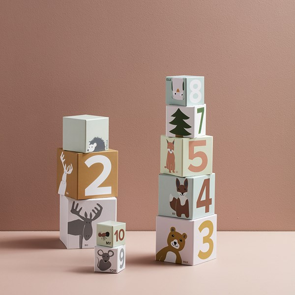 Kids Concept Edvin Numbered Cubes