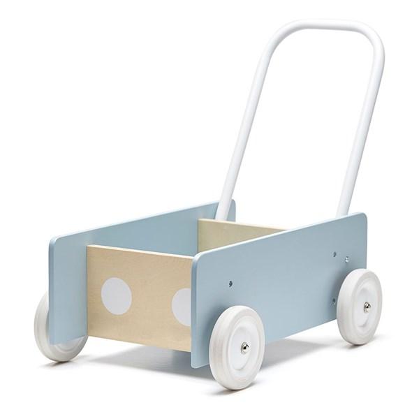 Children's Wooden Baby Walker in Blue Grey