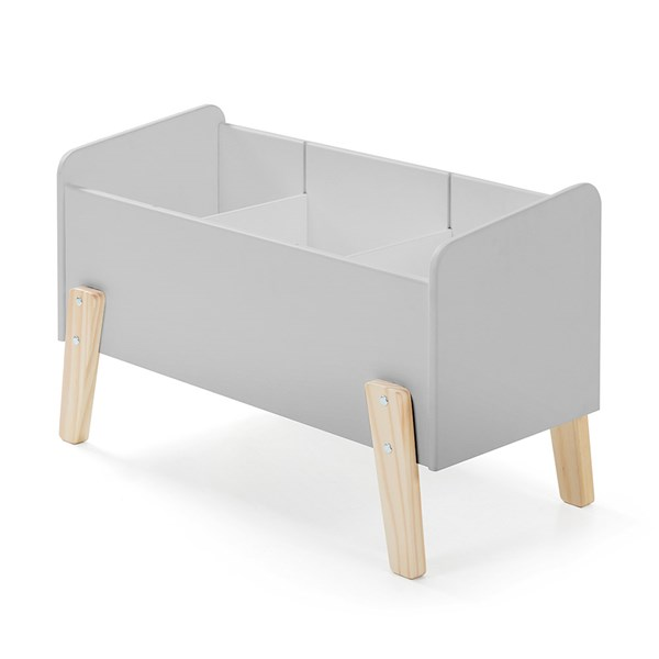 Kiddy Wooden Kids Toy Box in Cool Grey