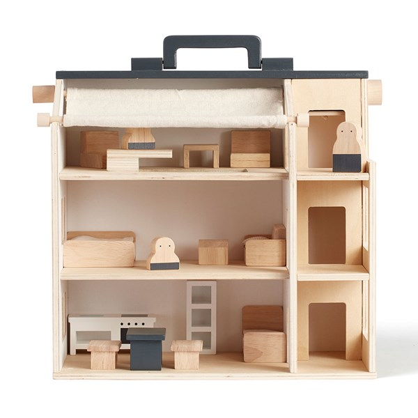 Kids Concept Aiden Wooden Studio Doll House with Furniture