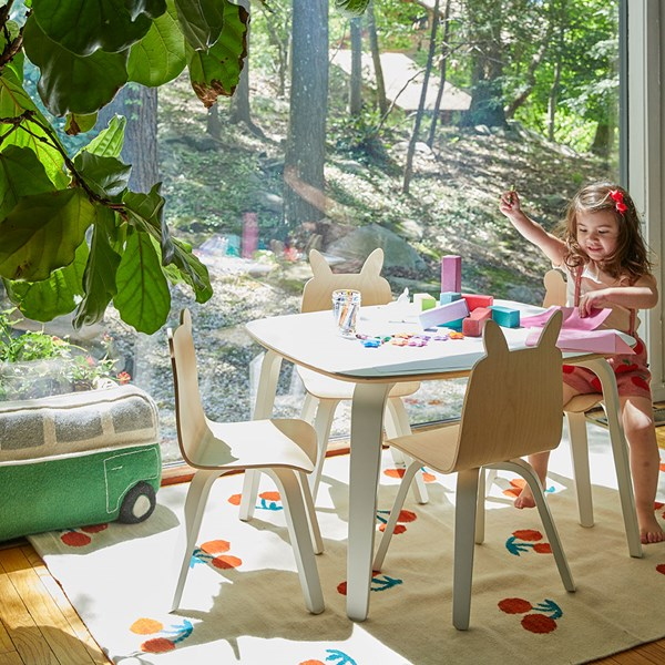 Birch Wood Scratch Resistant Kids Table