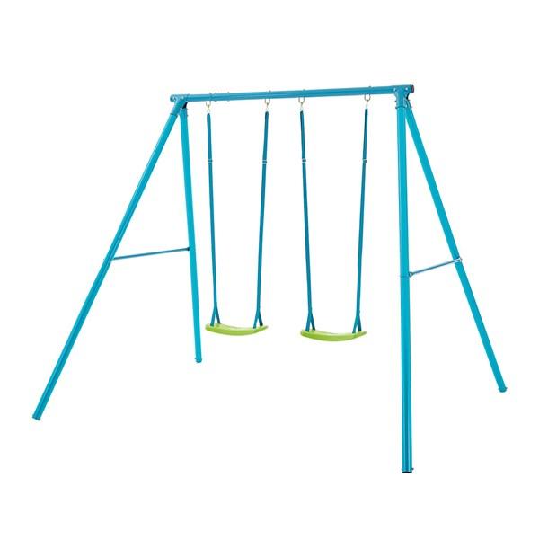 Childrens Outdoor Garden Swing Set with 2 Swings