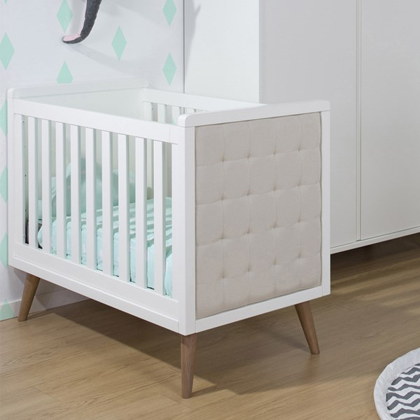 Retro Rio White Baby Cot