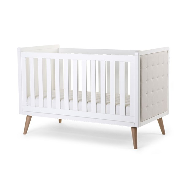 Contemporary White Baby Cot Bed
