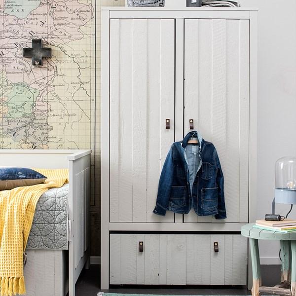 Large Designer Wardrobe in Grey