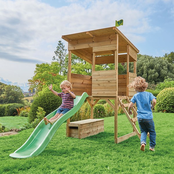 TP Toys Treetops Wooden Playhouse with Slide