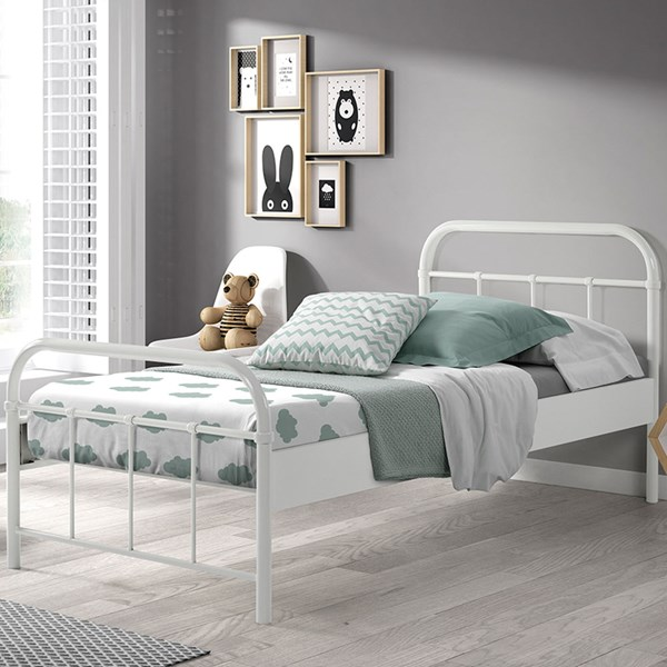 Boston Metal Kids Bed in White