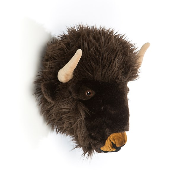 Alex the Buffalo Kids Plush Animal Head Wall Decor