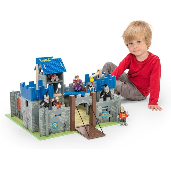 Le Toy Van Excalibur Wooden Castle with Drawbridge