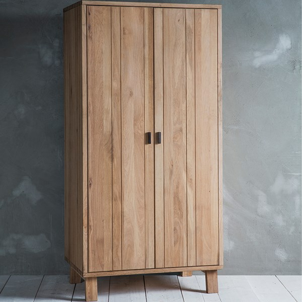 Kielder Oak 2 Door Wardrobe by Frank Hudson