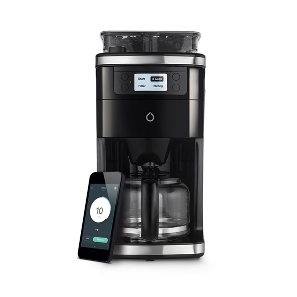 Wifi Connected Black Coffee Machine