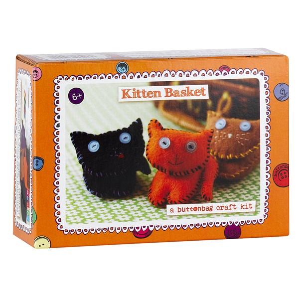 Buttonbag Kitten Basket Sewing Kit