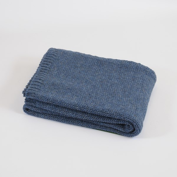Luxury Knitted Blue Throw