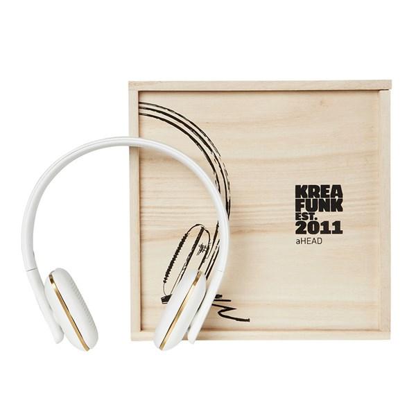 aHead Kreafunk Bluetooth Headphones in White
