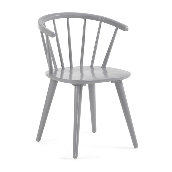 Pair of Krise Spindle Back Dining Chair in Grey