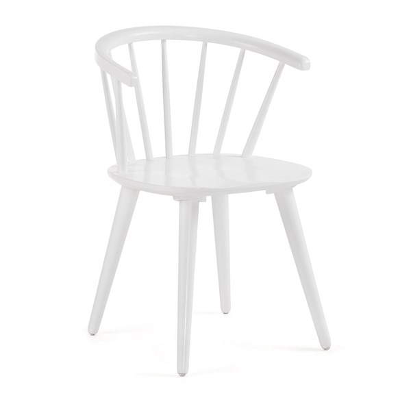 Pair of Krise Spindle Back Dining Chairs in White